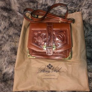 Patricia Nash Burnished Tooled Mirror Bag